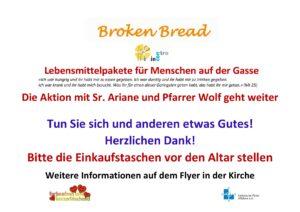 Broken Bread -Die Aktion geht weiter